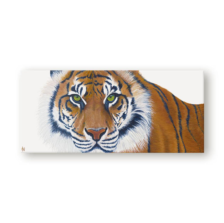Tiger Painting Gaze Canvas on Wall