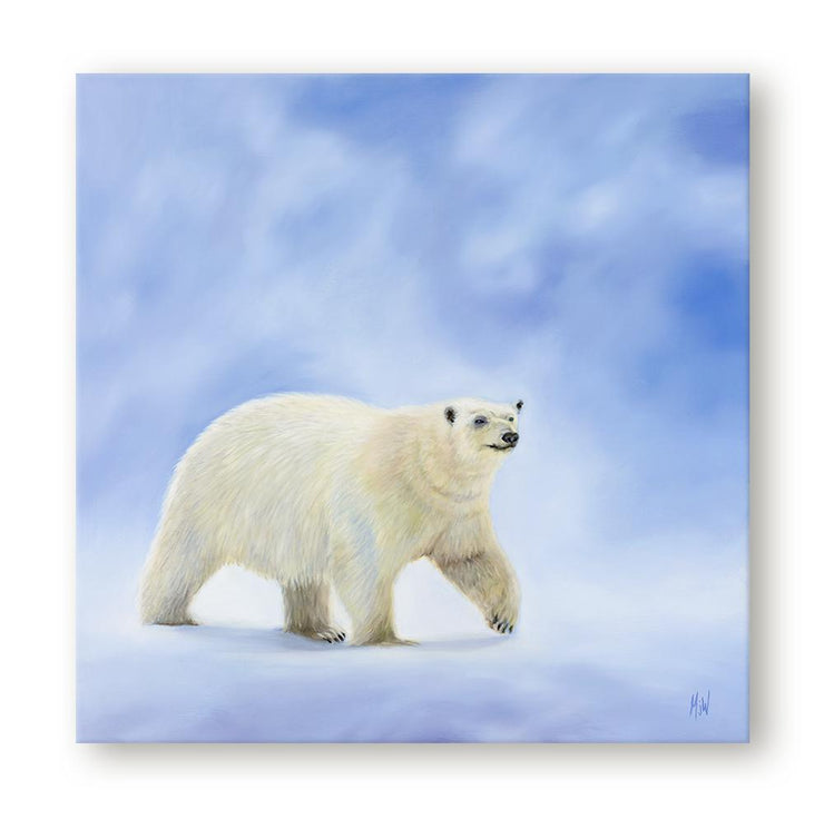 Polar Bear Painting Northbound Canvas on Wall
