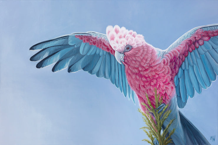 Pink & Grey Original Oil Painting