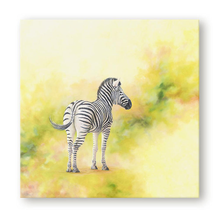 Zebra Painting Stand Alone Canvas on Wall
