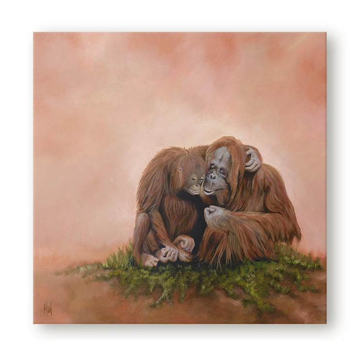 Orangutan Painting The Two of Us Canvas on Wall