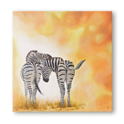 Zebra Painting Two of a Kind Canvas Print on Wall