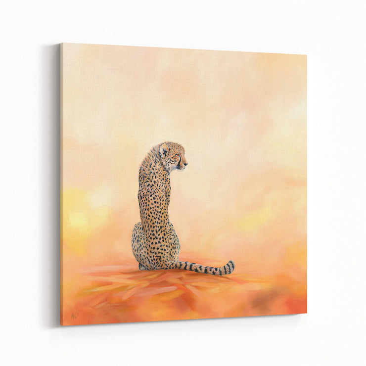 Cheetah Painting A Stolen Moment Canvas on Wall Angled