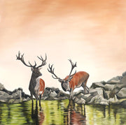 Deer Painting Friend or Foe Image