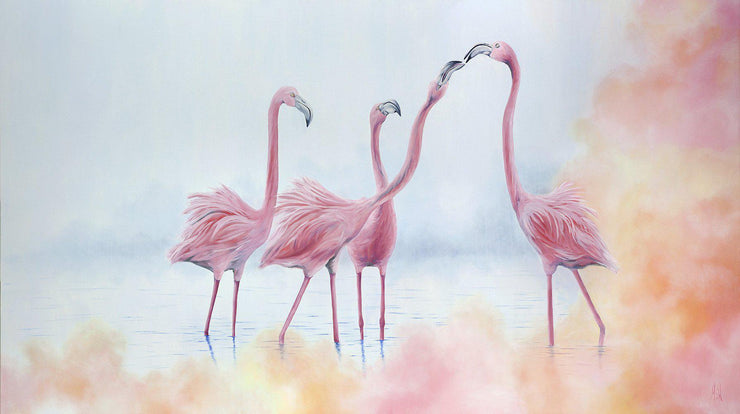 Flamingo Painting Pink Flamingos Image