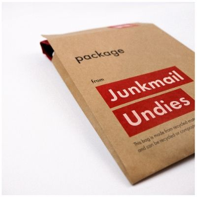 Junkmail Undies Environmentally Friendly Packaging