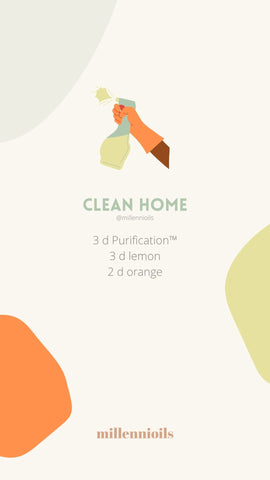Diffuser Blend with Essential Oils for Spring - Clean Home Recipe | Millennioils