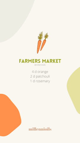 Diffuser Blend with Essential Oils for Spring - Farmers Market Recipe | Millennioils