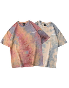 tie-dye men's t-shirts o neck t-shirt