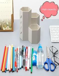 Hexagon multifunction scrub pencil holder