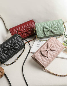 sweet butterfly decoration solid color cross body bag