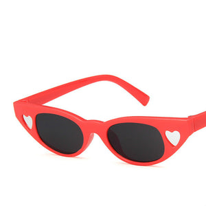 fashion small frame love two-color sunglasses