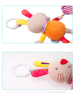 soft plush animal rattle stroller hanging bell baby toys