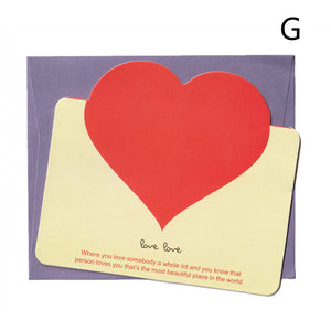 mini hollow love shape thank you card set