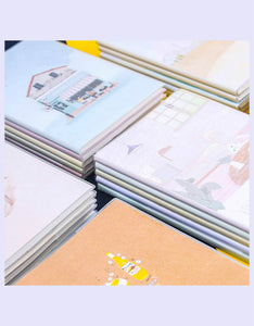 various cover design A5/B5 students softcover notebooks- set of 5