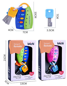 musical smart remote car key pretend play baby toys