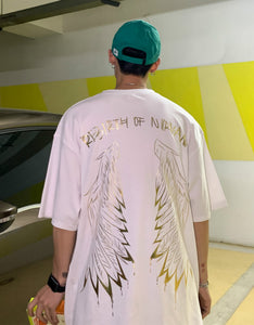 angel wings short sleeve couples loose colored t-shirts man t shirt