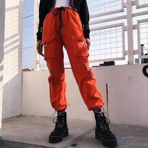 hip hop letters printed casual pants