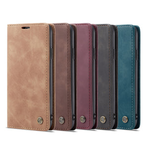 leather flip magnet cover phone case