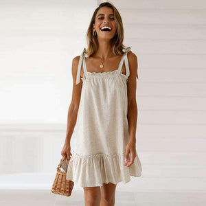 strappy stringy selvedge loose dress
