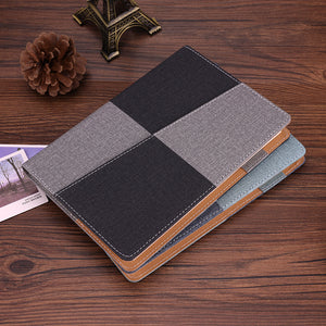 color blocking A5 business leather notebook