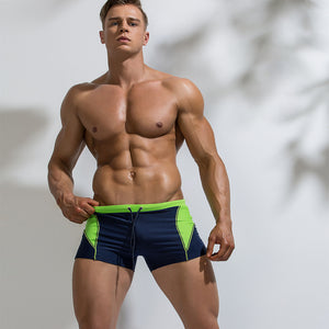 color blocking high resilience swimming shorts