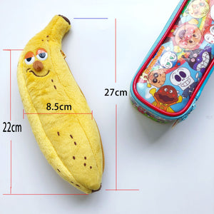 cartoon banana shape multifunctional cosmetic bag