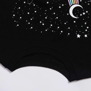 leo&virgo constellation printed casual t-shirt