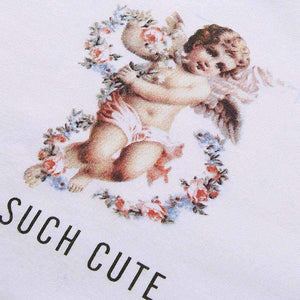 such cute angel printed loose t-shirt