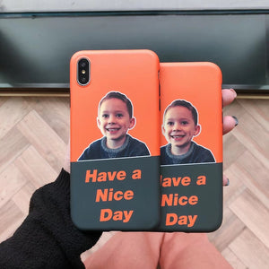 Nice Day funny boy printed soft phone case
