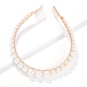 pearls decoration hair band headwear