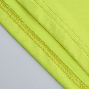 simple neon color elastic tube top