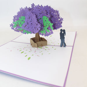 romantic 3D sakura Valentine's day card