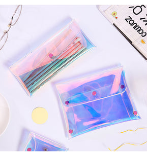 dazzling laser waterproof purse cosmetic bag