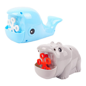 funny automatic frog/hippo/whale bubble machine toys