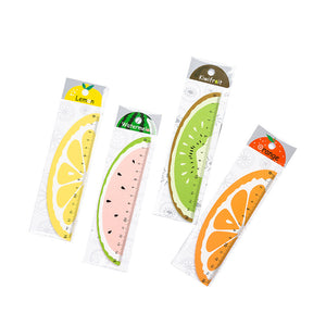cartoon fruit style 15cm students wood ruler