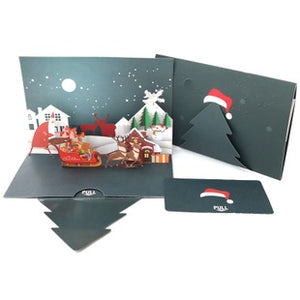 90° christmas tree color printed card
