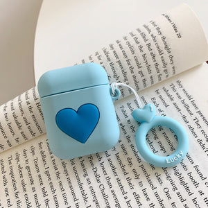 chic macaron heart silicone AirPods protector case