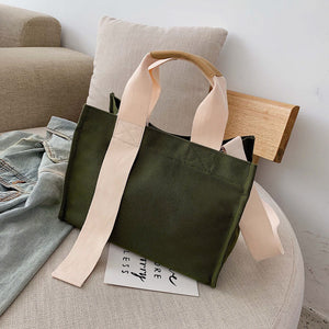 simple large capacity canvas tote bag