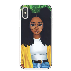 afro girls black women art phone case