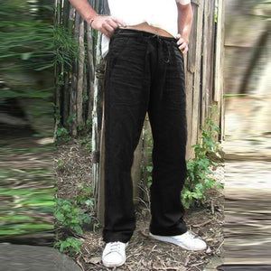 solid color loose drawstring pants