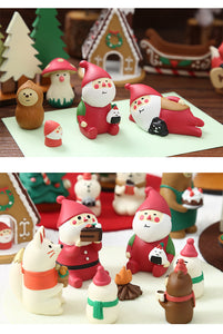 cartoon resin christmas desktop decoration