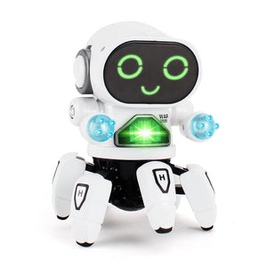 LED lighting musical dancing robot electric toy