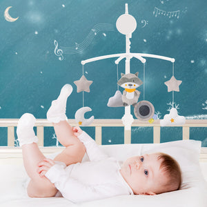 cartoon musical crib mobile bed bell baby toys