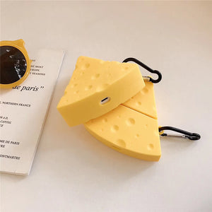 cute cheese shaped silicone AirPods protector case