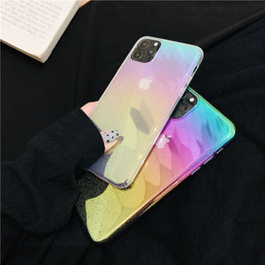 gradient color water drop designs hard cover phone case