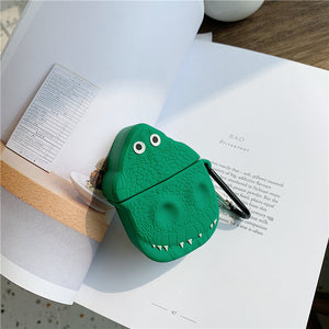 funny dinosaur silicone AirPods protector case