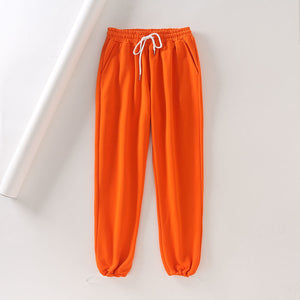 candy color drawstring jogger leisure harem pants