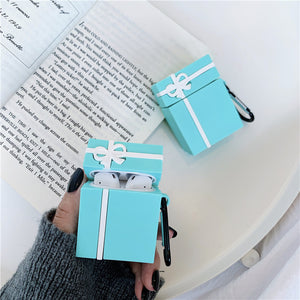 gift box shaped silicone AirPods protector case