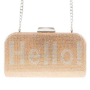 fashion dinner party diamond inlaid clutch
